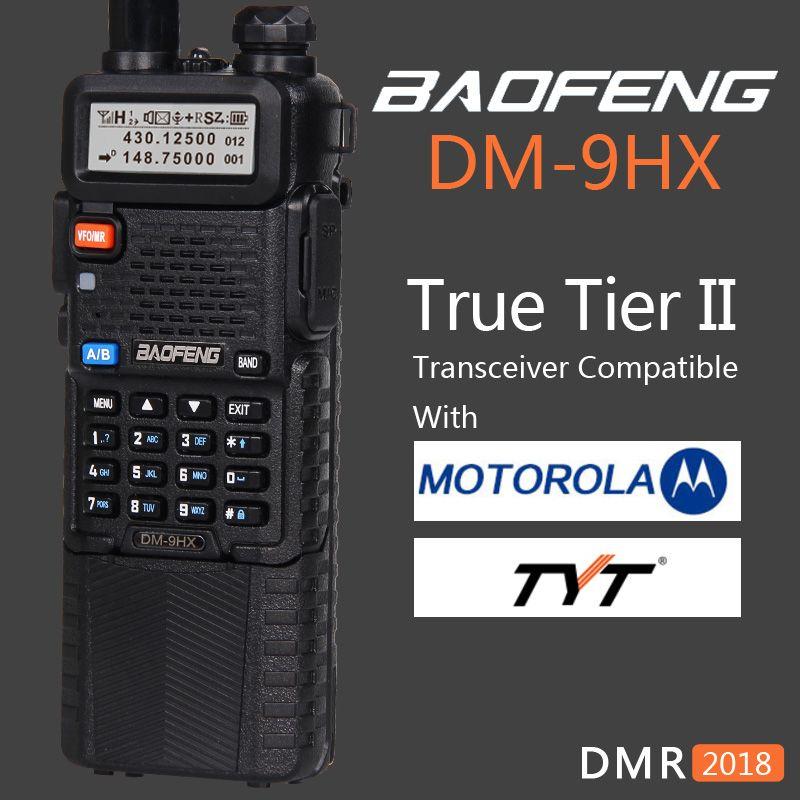 Baofeng 2018 Double Bande Niveau 2 II DMR Numérique Deux-way Radio Talkie Walkie DM-9HX sœur Radio Station DM-5R plus UV-5R UV5R UV 5R