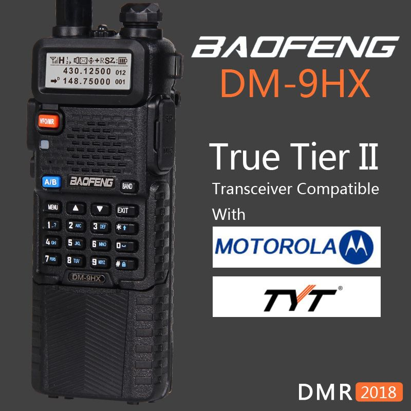 Baofeng 2018 Dual Band Tier 2 II DMR Digital Two-way Radio Walkie Talkie DM-9HX sister Radio Station DM-5R Plus UV-5R UV5R UV 5R