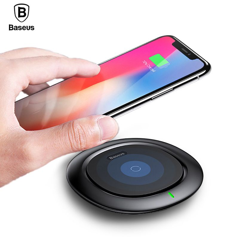 Qi Wireless Charger Baseus <font><b>Fast</b></font> Wireless Charging Pad For iPhone X 8 Plus Samsung Galaxy Note 8 S8 S7 S6 Edge Wirless Charger