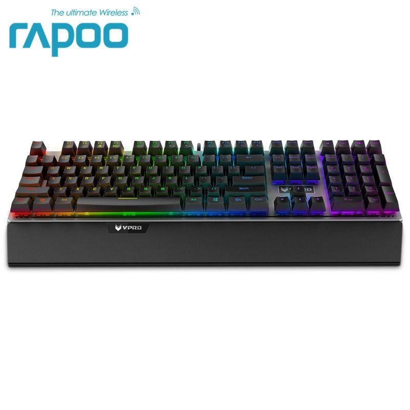 Rapoo V720 RGB Backlight Mechanical Gaming Keyboard 108 Keys N-Key Rollover Mechanical Switch Computer Gaming Keyboard
