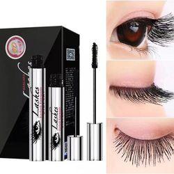 2 piezas 4D seda Fibe Mascara maquillaje DiDiCat extensión de pestañas rimel rizado impermeable cosméticos latigazo del ojo del rimel de la fibra