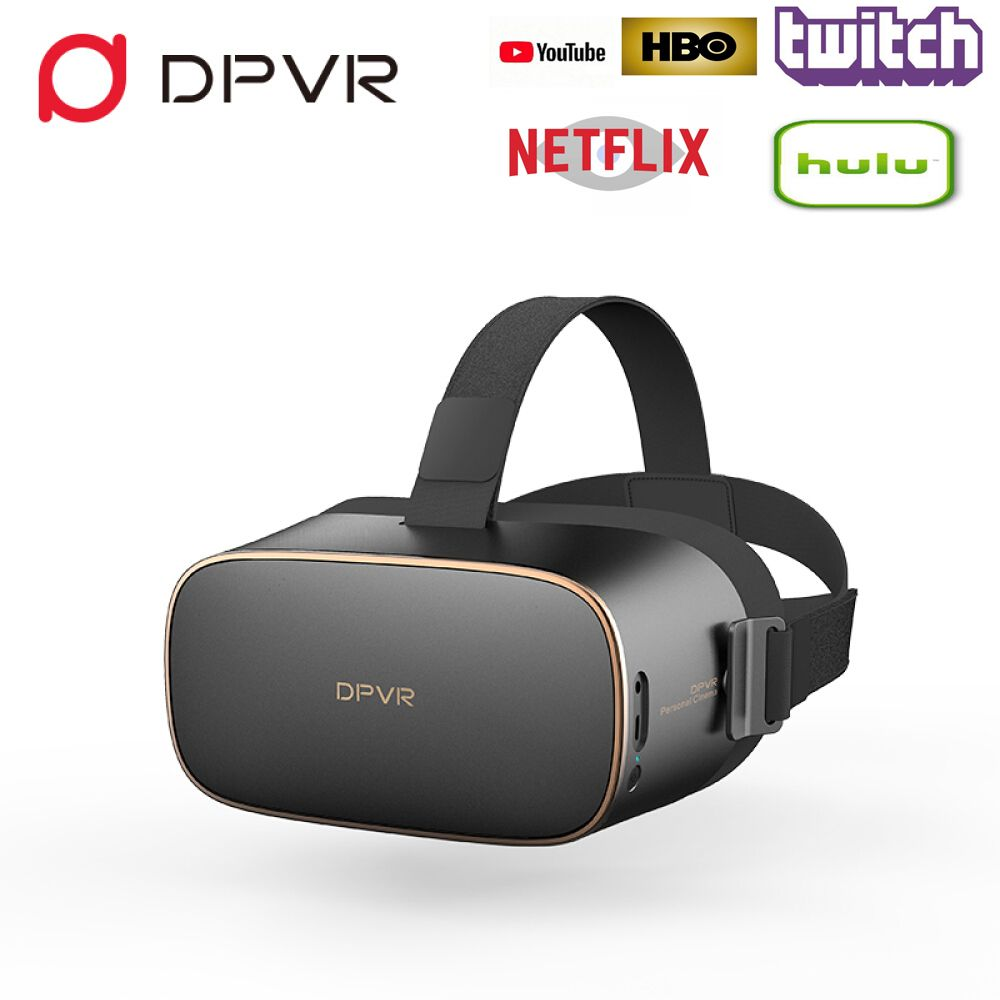 DPVR P1 VR Glasses All in One Helmet Virtual Reality Glasses Stereo IMAX Personal Cinema with Android 7.1 Wifi 2.5K HD Screen