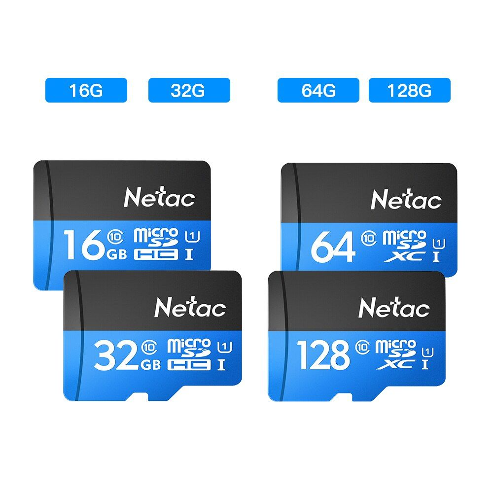 Netac Original Class 10 16GB 32GB 64GB 128GB Micro Card UHS-1 TF Card 98MB/s Flash Memory Card Data Micro SD Card For Table PC