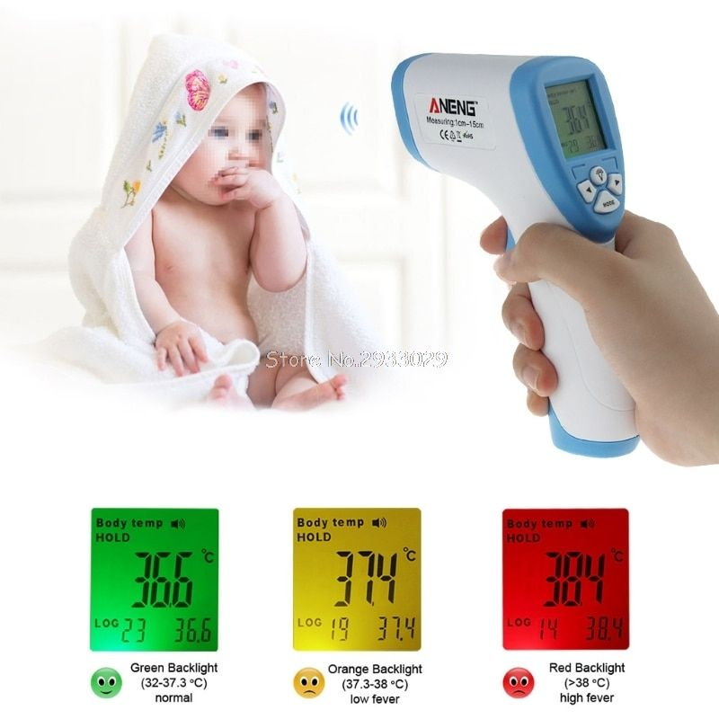 Digital LCD IR Infrared Thermometer Temperature Mete Non-contact -B116