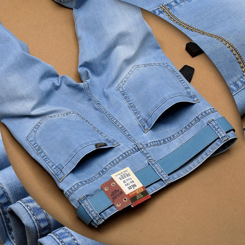 2017 Pantalones Vaqueros de Los Hombres Utr Luz Delgada Fashion Brand Jeans Grandes ventas de Primavera Verano de Moda Los Pantalones Vaqueros Delgados hombres's pantalones