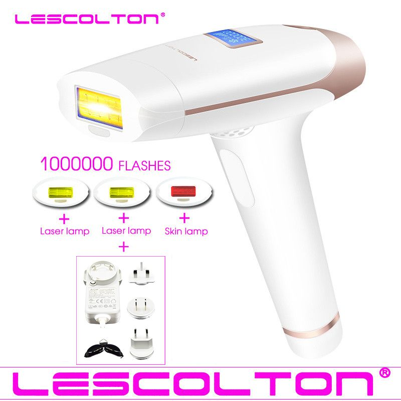 Lescolton 4in1 IPL Epilierer Dauerhafte Laser Haar Entfernung LCD Display 1000000 Impulse depilador eine laser Bikini Photoepilator