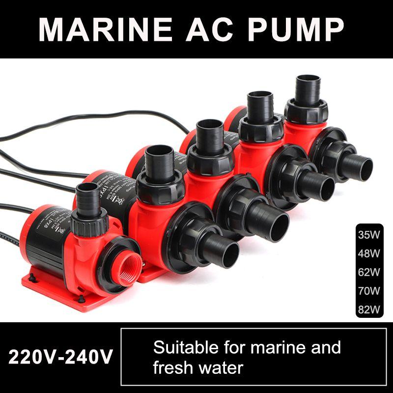Hause Stille 35/48/62/70/82 W 3500-10000L/H Variabler Strömung Tauch Wasserpumpe filter Fischteich Brunnen Aquarium Tank High-lift