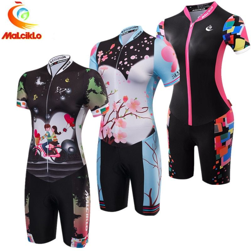 Triathlon Suit Women 2018 Pro Team Ropa Ciclismo Maillot Cycling Jersey Sets Clothing Skinsuit Jumpsuit Summer Sports Clothes