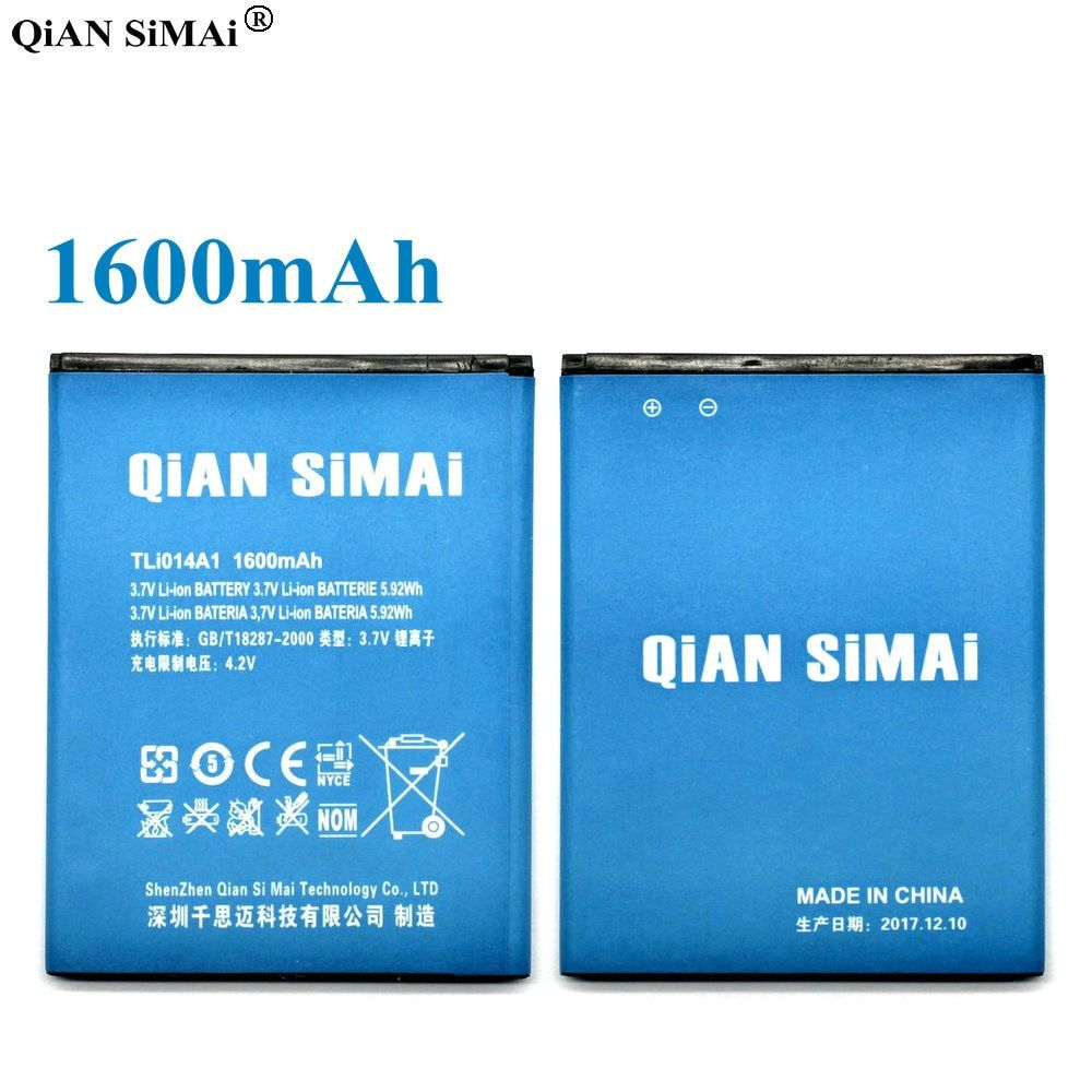 QiAN SiMAi 1600mAh Li-ion TLI014A1 Battery For Alcatel one touch Fire 4012 4012A 4012X Pixi 3 4.5