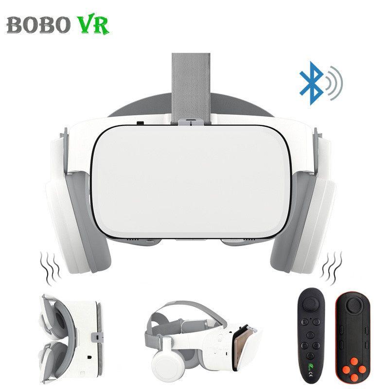 BOBOVR Z6 Upgrade 3D Gläser VR Headset Google Karton Bluetooth Virtuelle Realität Gläser Drahtlose VR Helm Für Smartphones
