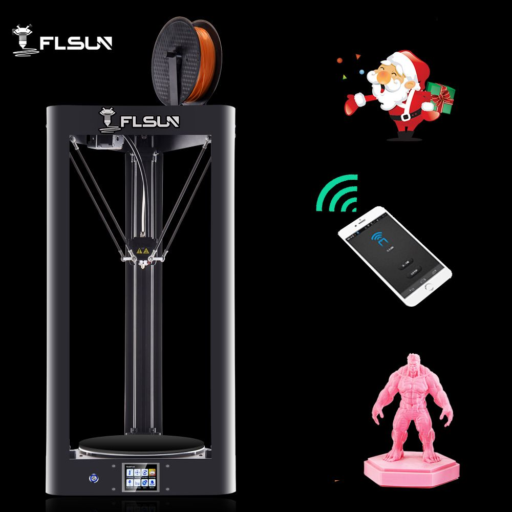 2019 NEW 3D Printer Flsun QQ-S Auto Leveling Lattice HeatBed Pre-assembly Titan Touch Screen Wifi 32bits boad Ship from Genmany