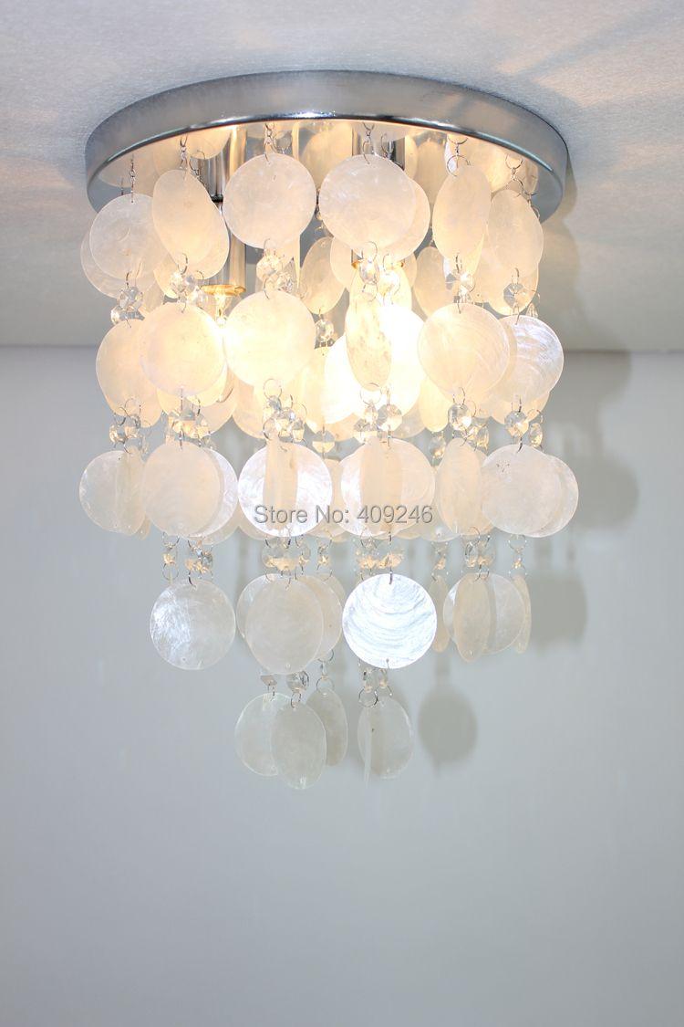 Moderne multicolore Romance coquillage lampe plafonnier utiliser E14X3 ampoule éclairage salle à manger chambre Bar magasin café Club