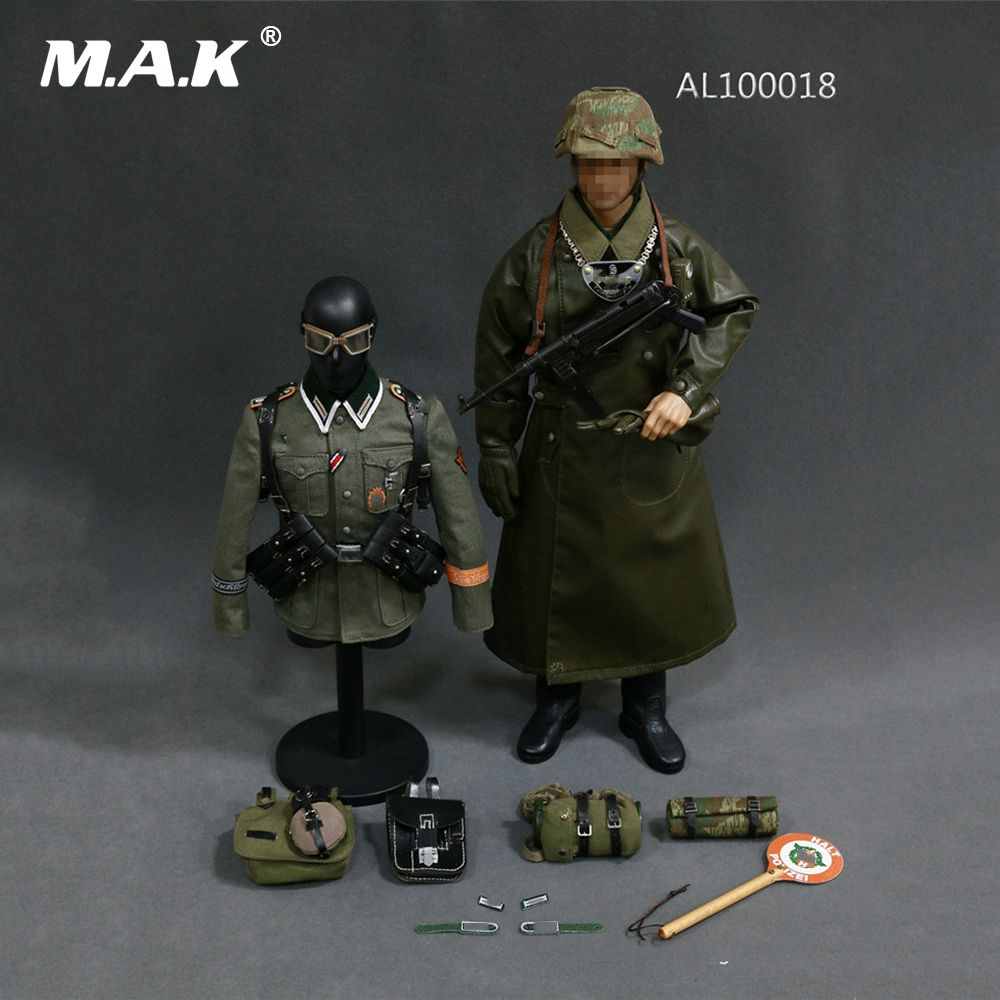 AL100018 1/6 Scale Man Clothes WWII German Grossdeutschland Division(GD) Military Police Equipment Set for 12'' Action Figure