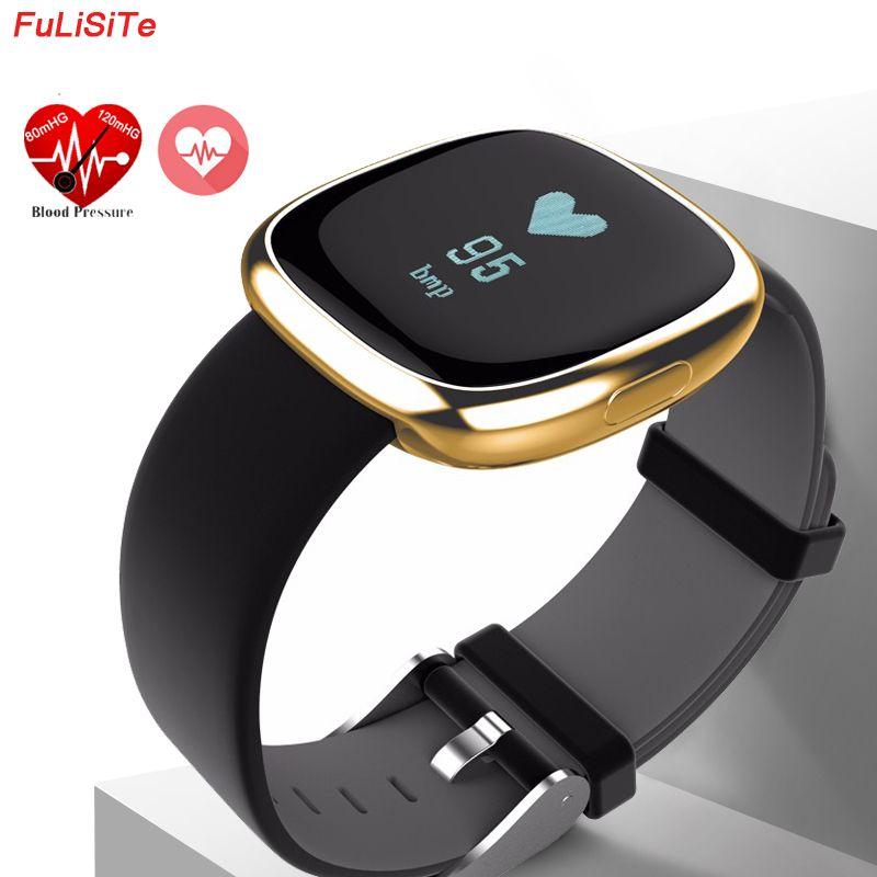 Smart Wristband Blood Pressure P2 Pedometers Pulse Fitband Fitness Activity Tracker Heart Rate Call & SMS <font><b>Alert</b></font> Sport Bracelet