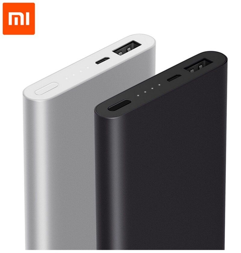 Xiaomi Mi Power Bank 10000mah 2 Generation V2 Two Way Quick Charge powebank 10000 Fast Chargin for Xiaomi Huawei iPhone Samsung