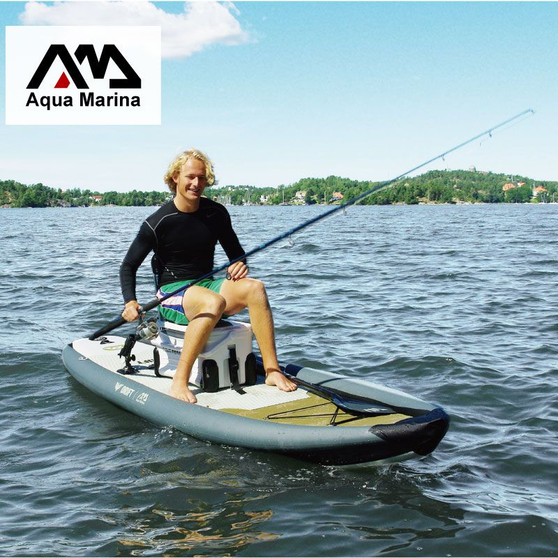 AQUA MARINA 330*97*15 cm DRIFT aufblasbare sup bord stand up paddle board, angeln SUP board surfbrett mit inkubator A01010