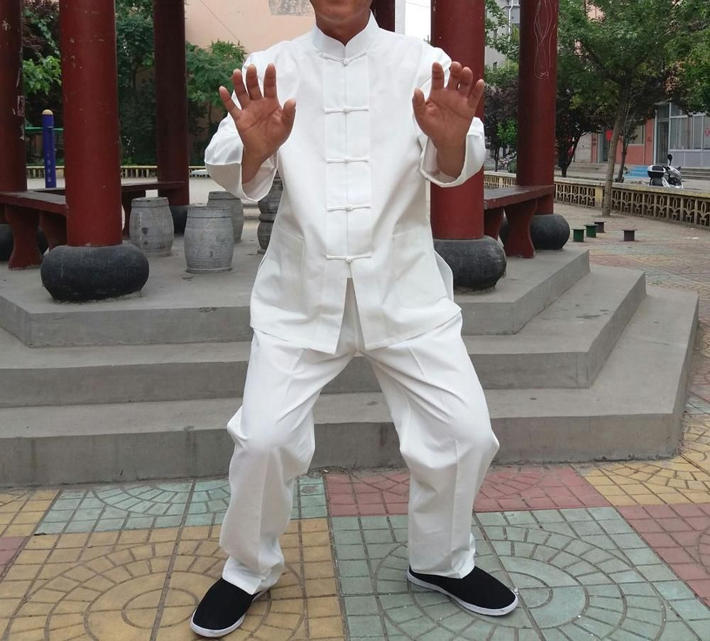 Qualität reiner baumwolle tai chi anzüge Traditionellen Chinesischen männer kung fu kampfkunst kleidung sets wing chun tang-anzug kleidung