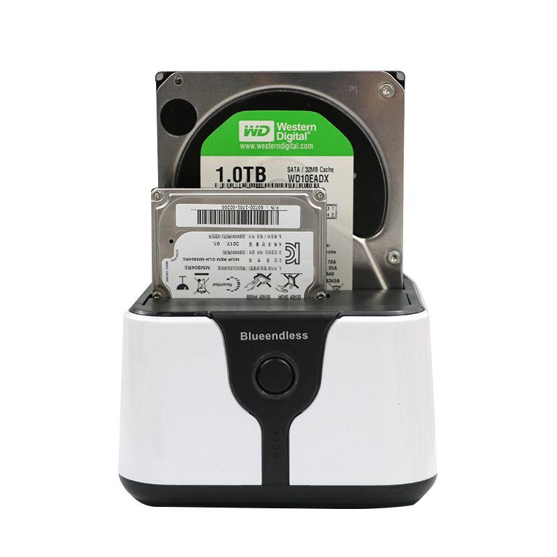 Blueendless 2-Bay SATA station d'accueil pour disque dur 3.5