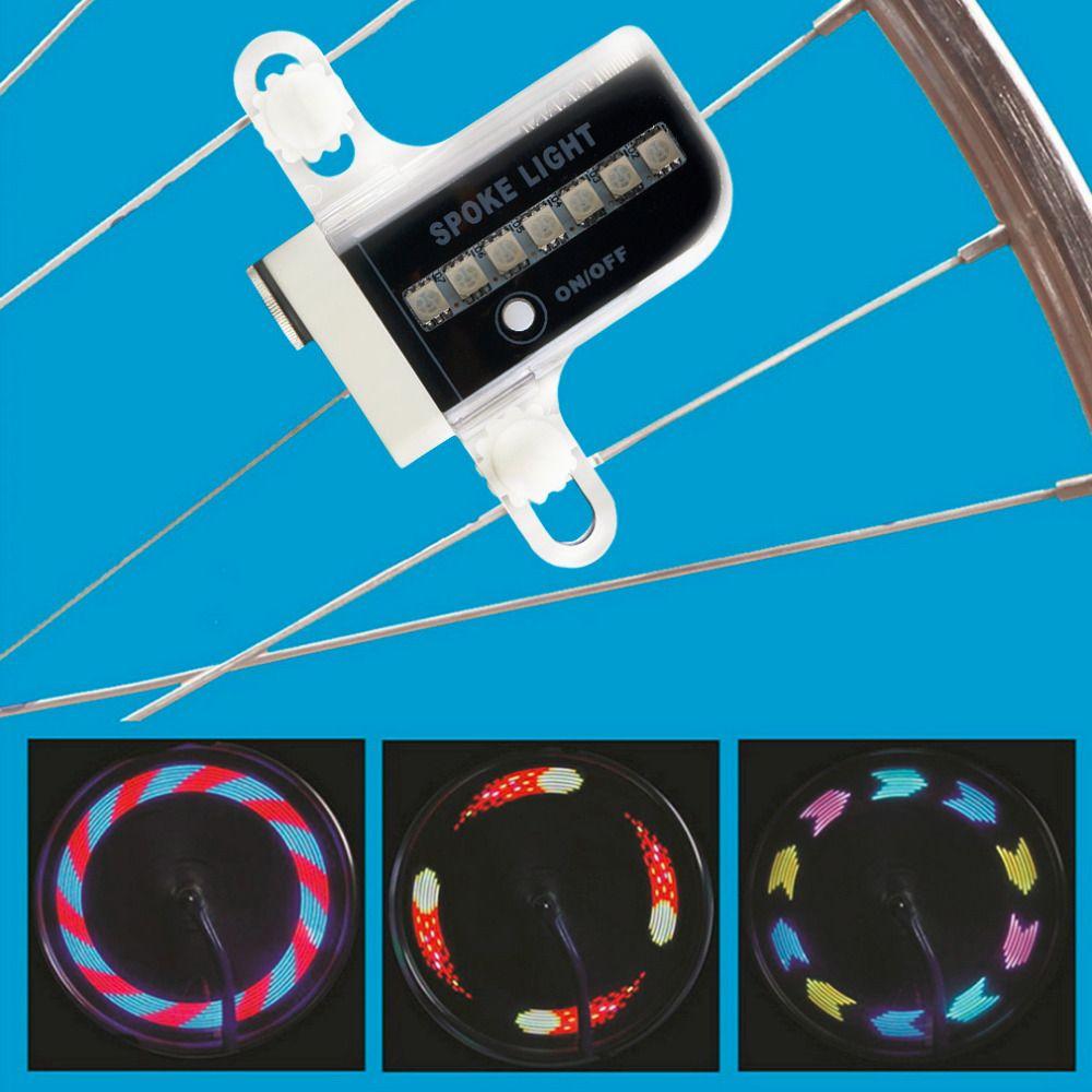 Gofuly 14 LED Motorrad Radfahren Fahrrad Rad Signal Reifen speichen 30 Änderungen 3 Modi Fahrrad Sprach Licht freies verschiffen