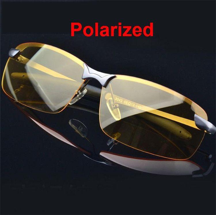 CHUN M4 Hommes de Lunettes Pilotes Lunettes de Vision Nocturne De Voiture Anti-Éblouissement Polarisant lunettes de Soleil Polarisées Conduite lunettes de Soleil + Sac en tissu