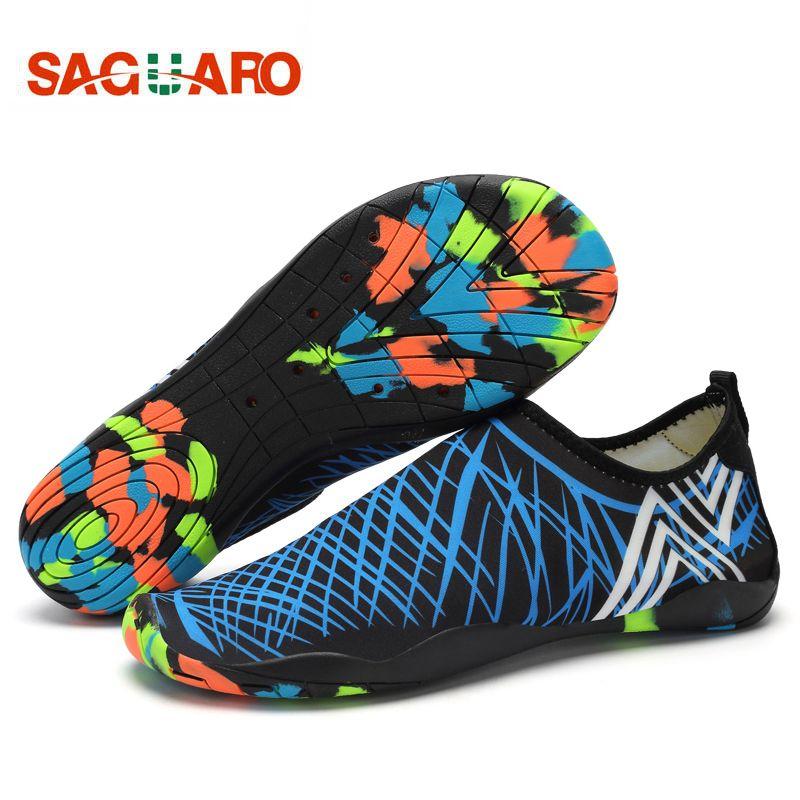SAGUARO Men Women Water Shoes Quick Drying Beach Barefoot <font><b>Aqua</b></font> Shoes Outdoor Unisex Yoga Skin Shoes Aquaschuhe Wading Schuhe