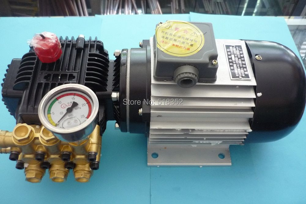 TZ-310 High Pressure Water Pump 0-11mpa 550W w/ Ceramic Plunger YS80-4 3 Phase Asynchronous Motor, EDM Drilling Machines Parts