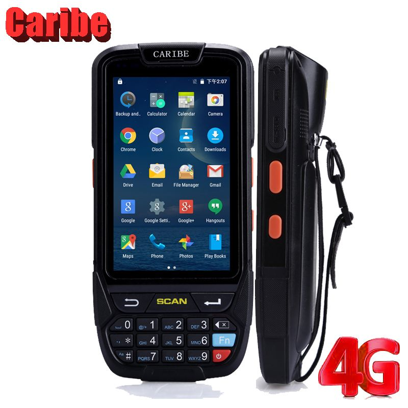 Caribe PL-40L Ip65 rugged waterproof handheld mobile phone pda1d barcode scanner android pda