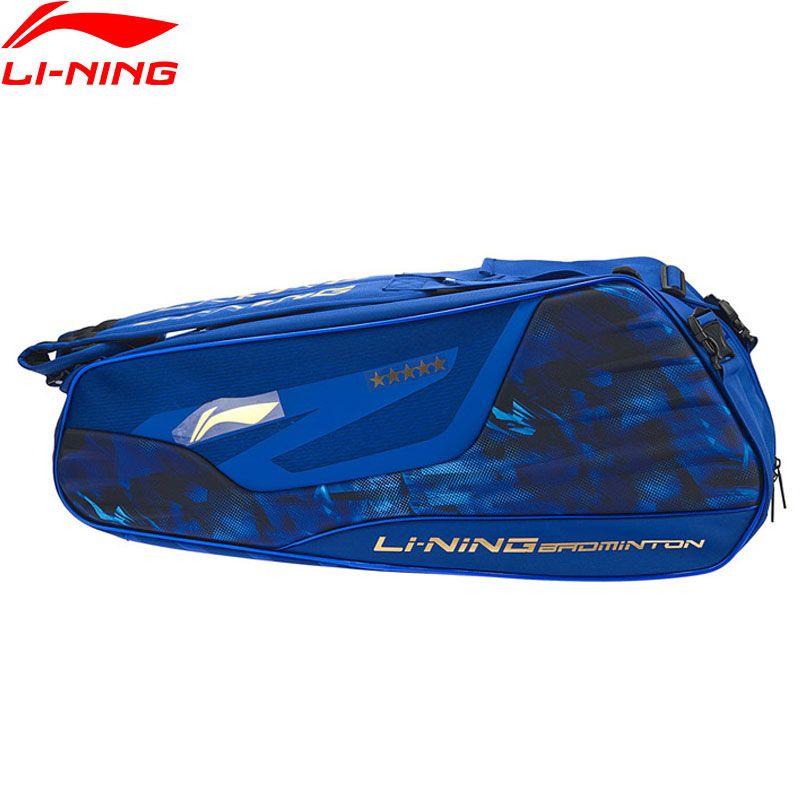 Li-Ning Badminton Schläger Tasche Wesentliche Polyester 6-pack Berufs Sport Sportlich Racquet Bag ABJN072 ZYF324