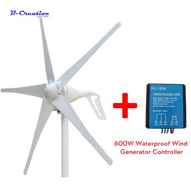 New 400W wind generator 12v 24v 48v wind turbine with 3/5 blades with 600w wind controller for streetlight garden lighting
