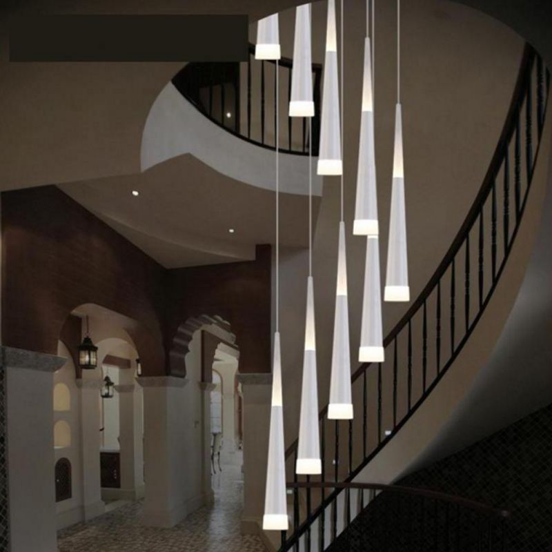Modern Staircase Chandelier Ceiling Interior Lighting Long Stair Chandelier Hanging Lamp Suspended Chandeliers luminaire