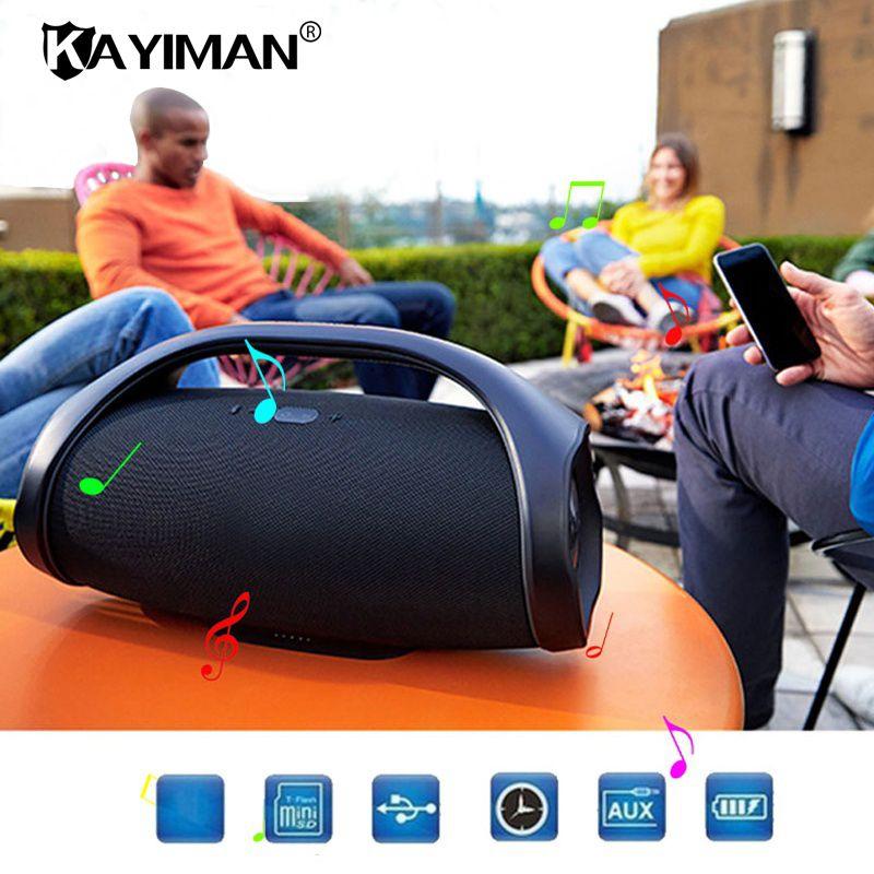 Boom Box Waterproof Professional Outdoor HIFI Bass Column Speaker Wireless Bluetooth Speaker Subwoofer Sound Box with FM Radio