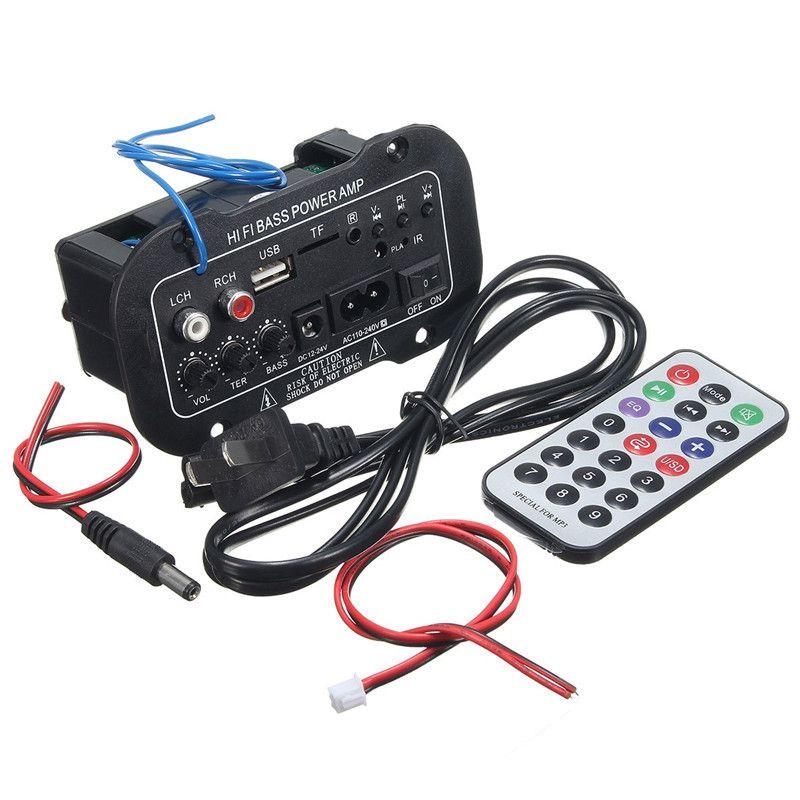 30 Вт Усилители домашние доска Аудио Bluetooth amplificador USB ЦАП FM радио tf-плеер сабвуфер DIY Усилители для motorcyclecarhome