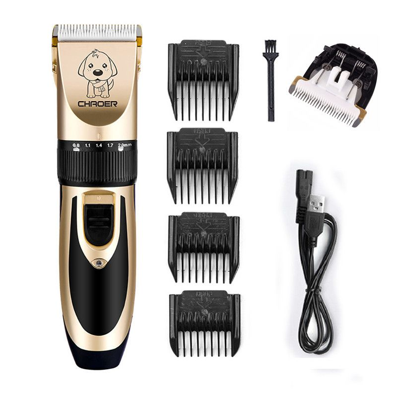 Rechargeable Low-noise Cat Dog Hair Trimmer Electrical Pet Hair Clipper Remover Cutter Grooming Pet Haircut Machine DP/Wholesale