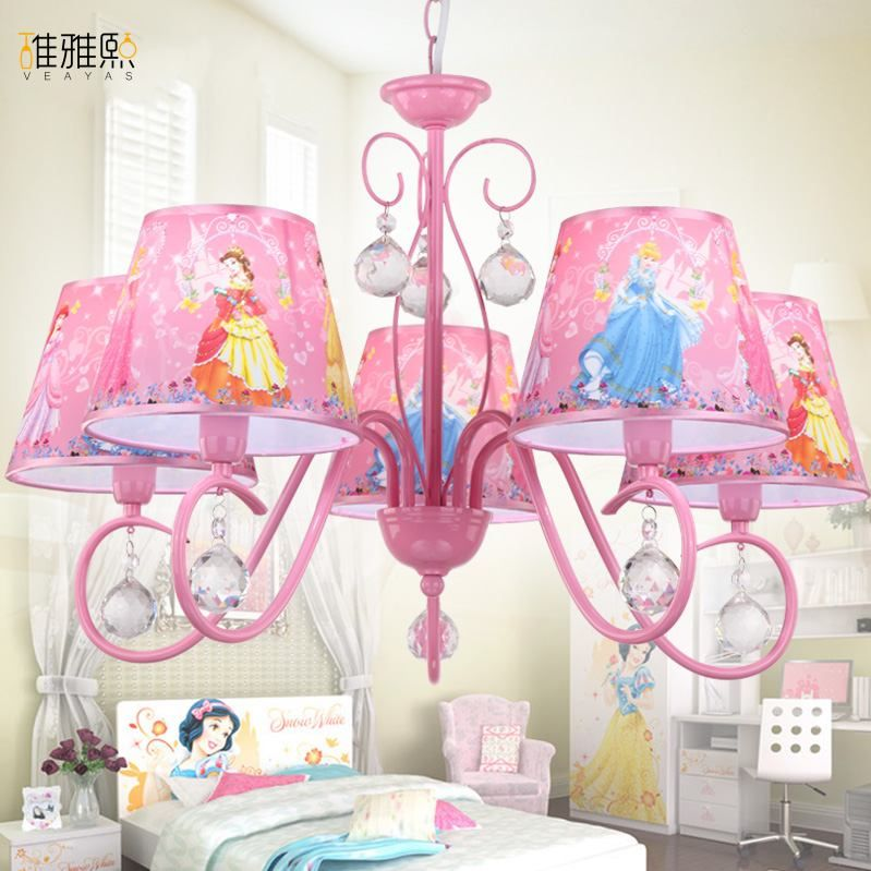 christmas light creative girl pink lighting children lamps and iron lighting children lamp girl Crystal chandelier lighting
