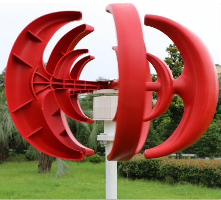 400W Wind Turbine 12V 24V 5 Blades Small Wind Turbine Generator Kits Vertical 3 Phase AC Permanent Magnet Wind Turbine