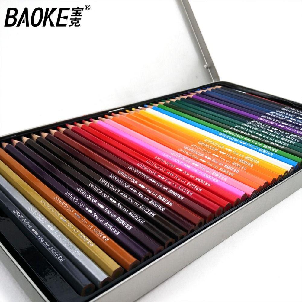 Baoke 72 crayons de couleur souples aquarelle lapis de cor Professional 72 crayons de couleur Non toxiques sans plomb Set fournitures d'art