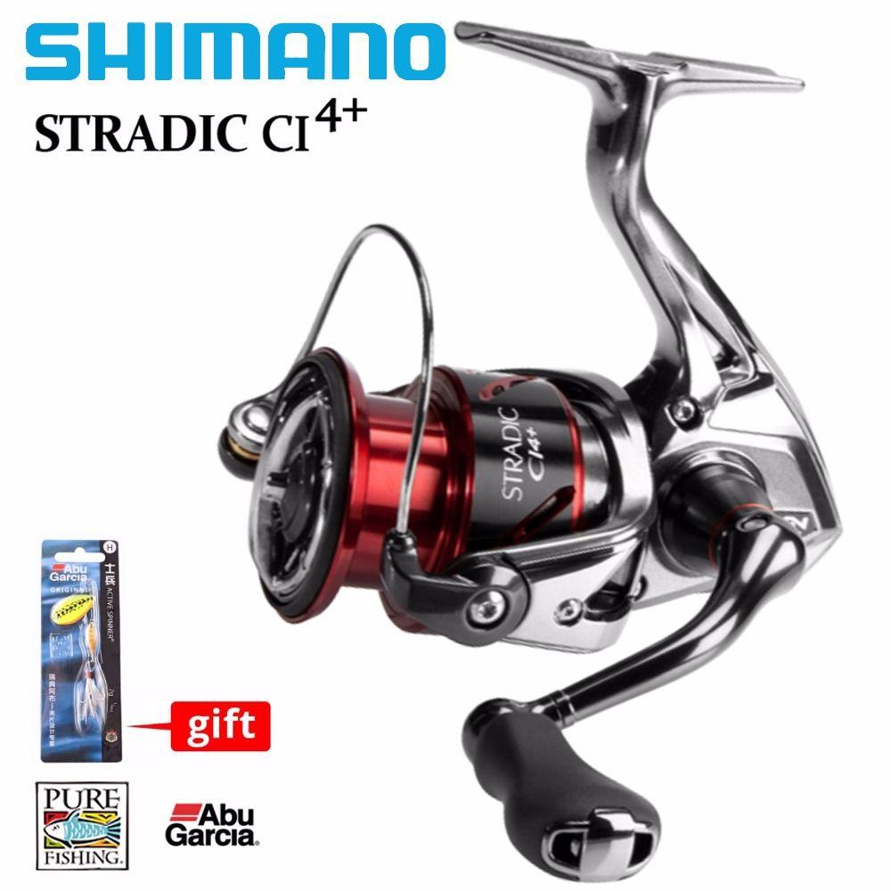 SHIMANO STRADIC CI4+ Spinning Reel+Abu Garcia Hook Gift 2500HG C3000HG High Gear Ratio 6.0:1 HAGANE GEAR Salt Water Fishing Reel
