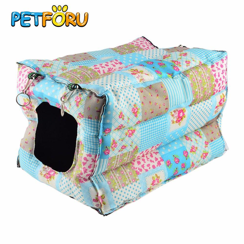Petforu chat suspendu maison chaude coton chat hamac petits animaux nid chat lapin écureuil furet cochon d'inde lit maison Cage