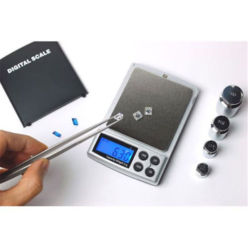 500g/0.01g Electronic Scales Precision Portable Pocket LCD Digital Scales for Jewelry Weight Balance Kitchen Gram Scales