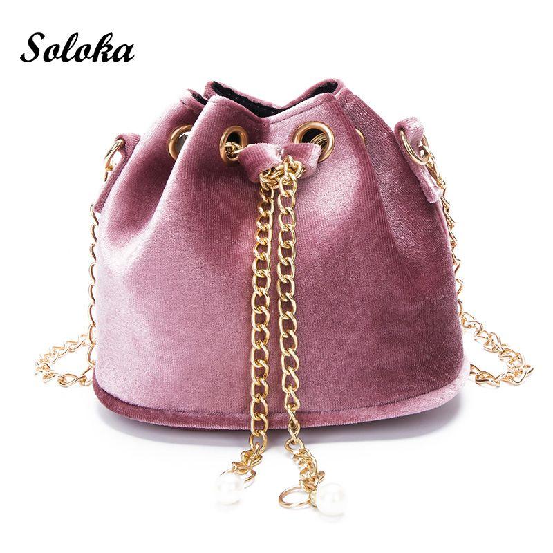 New Women Girl Small Blessing Bags Messenger Bags Crossbody Handbags Velvet Bucket School Shoulder Bags Mini Girl Bag Kids Gifts