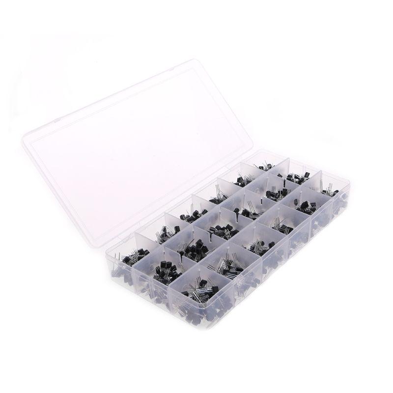 900 Pcs 18 Value A1015 - 2N5551 Bipolar Signal Transistor NPN PNP Kit Set
