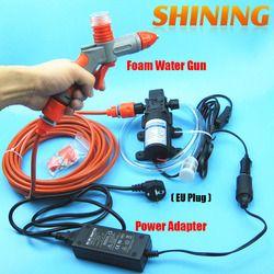 Dengan UNI EROPA Plug Power Adapter 110/220 V 110-240 V Mesin Cuci Mobil Busa Gun Tekanan Tinggi Mesin Cuci Mobil 220 V Portabel Mobil Mesin Cuci Set