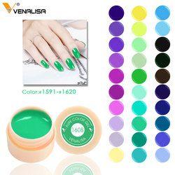 Venalisa 5 ml pot blanc Pur Couleur nail Art gel Peinture Gel Conseils DIY Décoration CANNI Usine Prix Peinture LED et UV Gel peinture