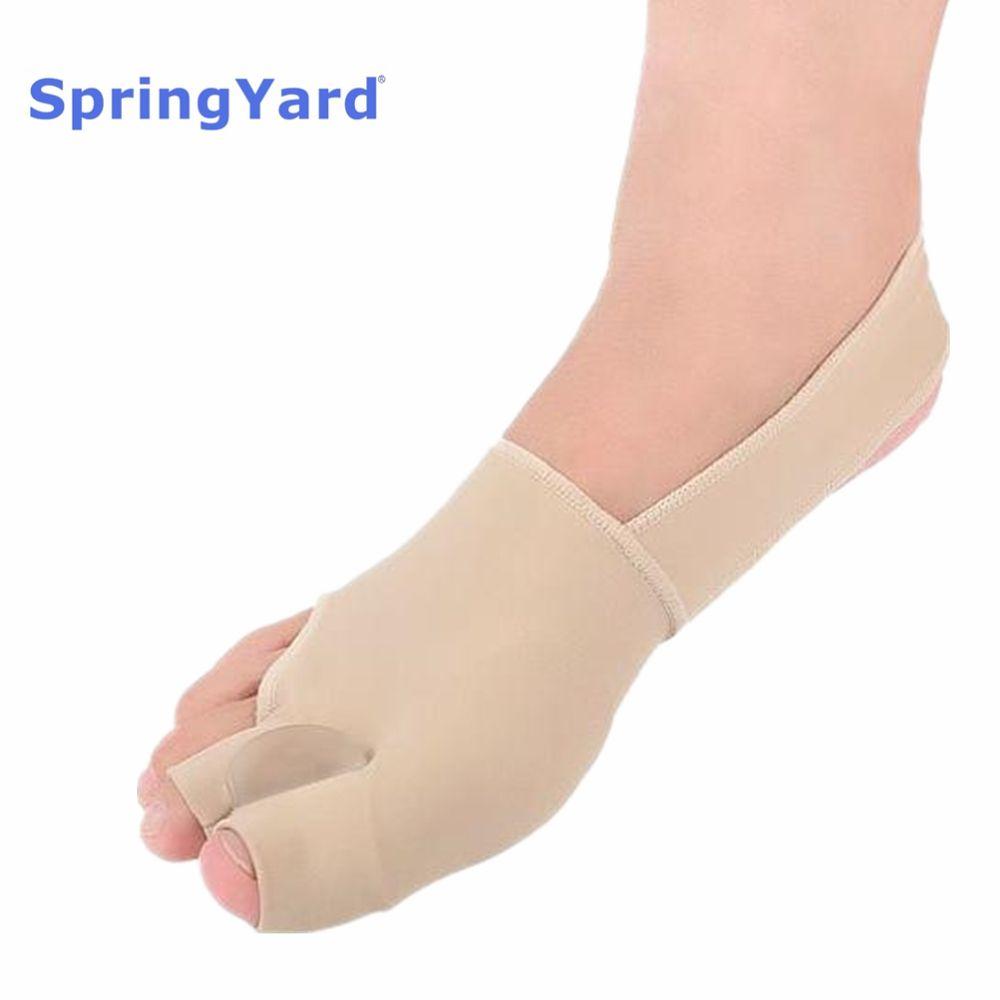 SpringYard Fabric+Gel Hallux Valgus Orthopedic Bunion Corrector Belt Toe Separator Two Toe Protector Sleeve Foot Care