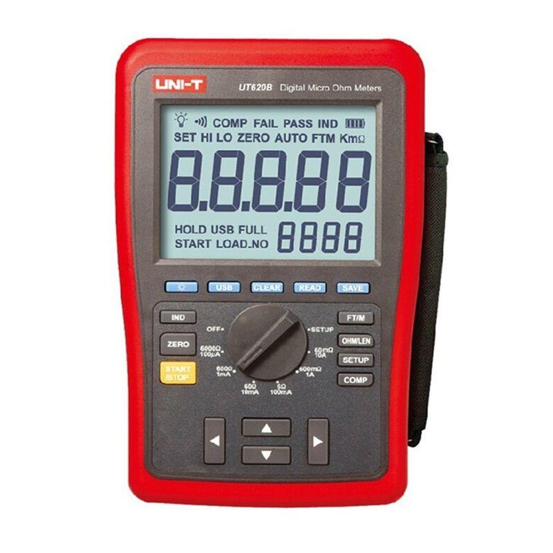 UNI-T UT620B Digital Micro Ohm Meter Manuelle Palette UT-620B LCD 60000 Zählt Display Hohe/untergrenze Alarm Usb-schnittstelle