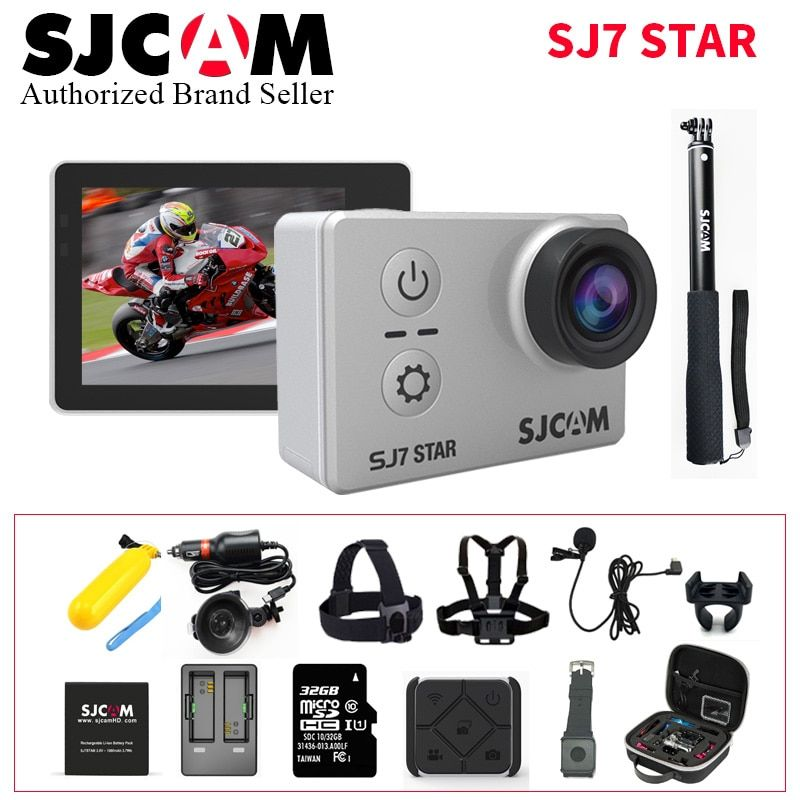 SJCAM SJ7 Stern Wifi Action Kamera Ambarella A12S75 4 Karat 30fps Gyro 2,0 Zoll Touchscreen Sport Camcorder Tauchen SJ 7 Mini DV CAM