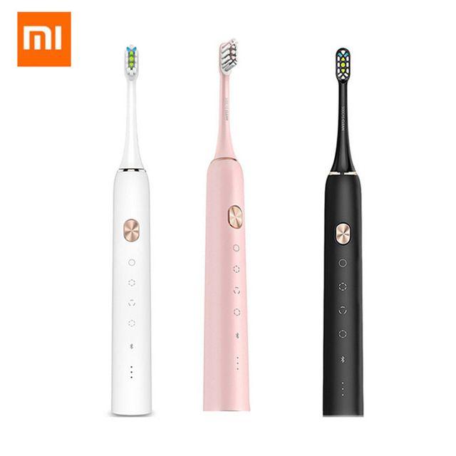 Xiaomi Mijia SOOCAS X3 USB Rechargeable brosse à dents électrique sonique IPX7 Étanche Avec 4 Modes de Brossage De Xiaomi Youpin