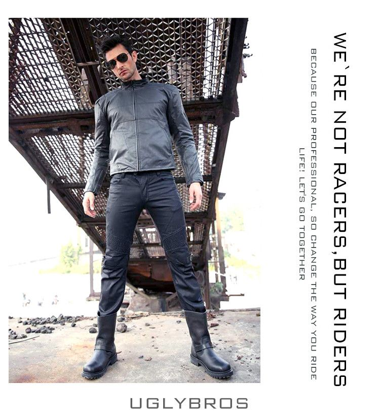 Straight windproof jeans UglyBROS Johnny ubs08 jeans Motorcycles pants Men's moto pants Racing riding protective pants