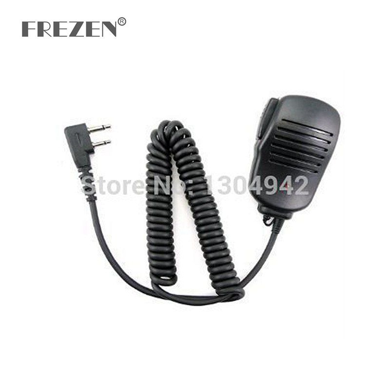 New Handheld Mic Microphone Speaker for 2 Pin for ICom Yaesu Vertex two way Radio IC-F10/F11/F12/F20/21 IC-F22 IC-F3 IC-F33GS