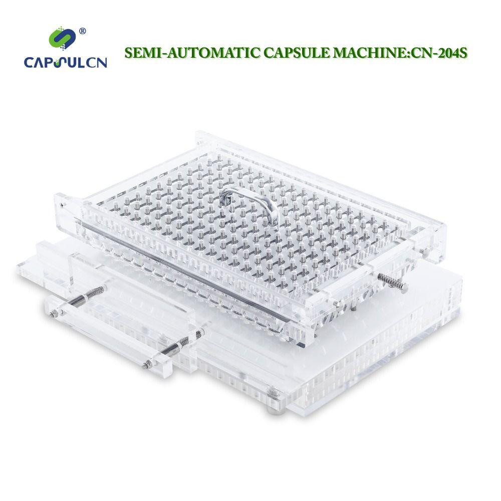 CapsulCN, 204 S/Größe 0 # Halbautomatische kapsel füllstoff/Encapsulator/Kapsel Füll Maschine/Kapsel Capper/Verkapselung maschinen